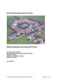 Bijlage 1. Plan herinrichting dorpskern Veulen jan ... - Dorpen Venray