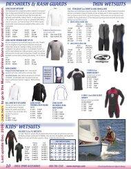 Dryshirts, Rash Guards and Wetsuits: Murrays 2009 Catalog PDF ...