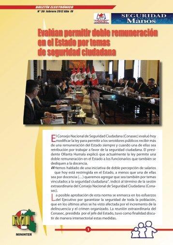 febrero - Consejo Nacional de Seguridad Ciudadana
