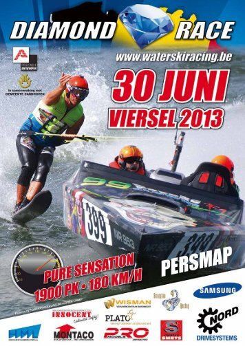 Persmap Viersel Diamond Race - Waterski Vlaanderen