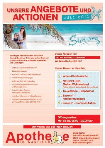 Rabattaktion Im Juli 2011 Aktion Im Dezember Apotheke In Plauen