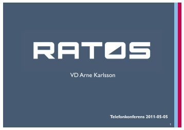 Telefonkonferens OH-bilder - Ratos
