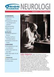 Nr 2 - 2010 som PDF - Orionpharma Neurologi