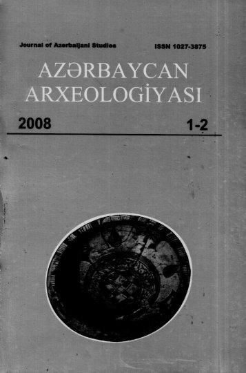azbrbaycan arxeologıyası - DSpace at Khazar University