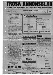 Trosa annonsblad 1940