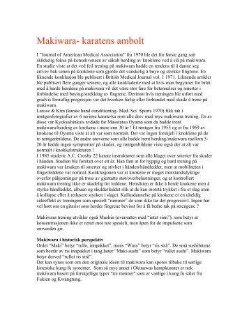 Makiwara- karatens ambolt - Budobook.no