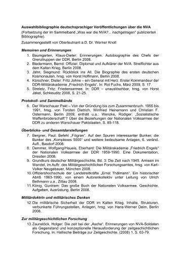 Auswahlbibliographie deutschsprachiger ... - aggi-info.de