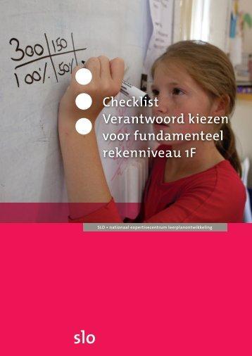 Checklist 'Verantwoord kiezen voor fundamenteel ... - Kennisnet
