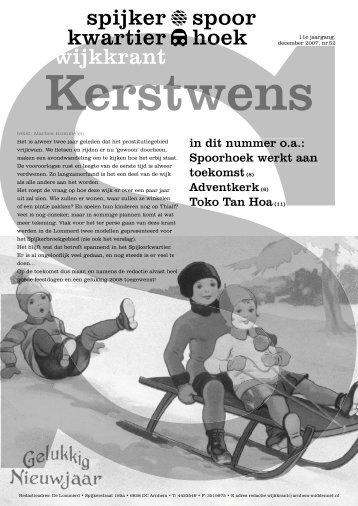 nummer 6 van 2007 - Spijkerkwartier/Spoorhoek