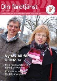 Mars 2009 (pdf) - Färdtjänsten