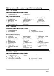 Lijst van persoonlijke beschermingsmiddelen en uitrusting ...