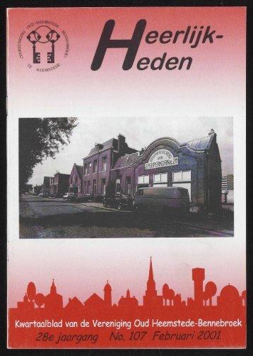 jaargang No. 107 Februari 200 - Historische Vereniging Heemstede ...