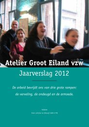 Atelier Groot Eiland Jaarverslag 2012