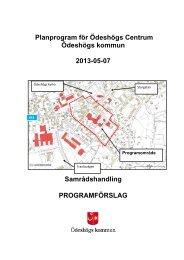 Planprogram för Ödeshögs Centrum - Ödeshögs kommun
