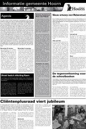 Informatiepagina's woensdag 29 oktober 2008 - Gemeente Hoorn
