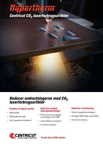 Centricut CO laserforbrugsartikler Reducer ... - Svejsehuset A/S