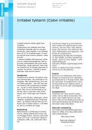 Irritabel tyktarm (Colon irritabile) - EPIS - Gentofte Hospital