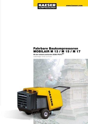 Fahrbare Baukompressoren MOBILAIR M 13 / M 15 ... - PLUMETOP