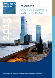 Manifest voor de econoMie van rotterdaM - VNO-NCW West