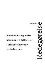 Redegørelse om kommuners og amtskommuners deltagelse i ...