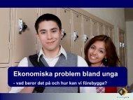 Ekonomiska problem bland unga (pdf, 277 kb)