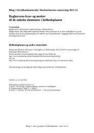 Bygherrens krav og ønsker til de enkelte ... - Renovering 2014