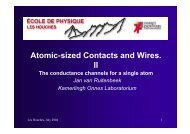 Atomic-sized Contacts and Wires. II