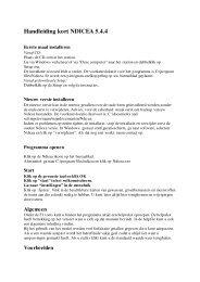 Handleiding kort NDICEA 5.4.4