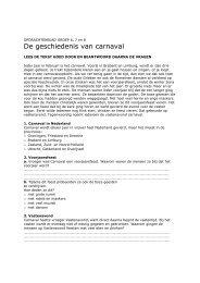 De geschiedenis van carnaval - SCVO.nl