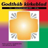 Godthåb kirkeblad - Godthåb Kirke - Folkekirken