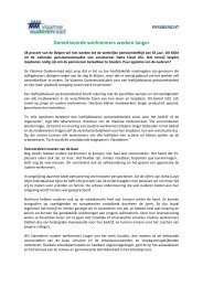 Gemotiveerde werknemers werken langer.pdf - Vlaamse Ouderenraad