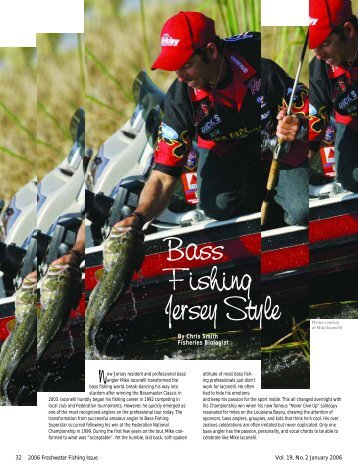 Bass Fishing Jersey Style - Division of Fish and Wildlife