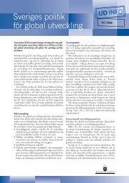 Sveriges politik för global utveckling Faktablad från ...