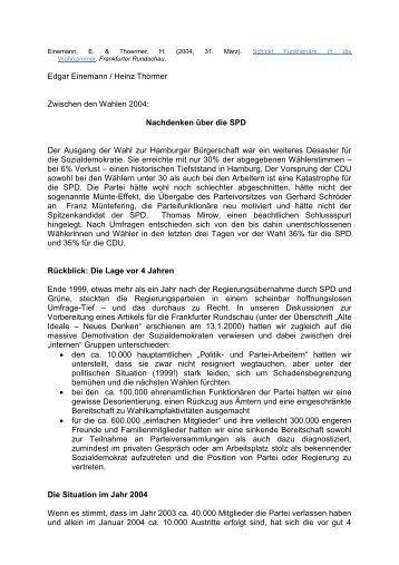 Schickt Funktionäre in die - Einemann.de