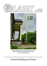 September 2005 - Svenska Folkdansens Vänner