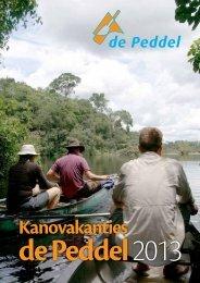 Brochure met reizen en prijzen van 2013 - Kanobedrijf