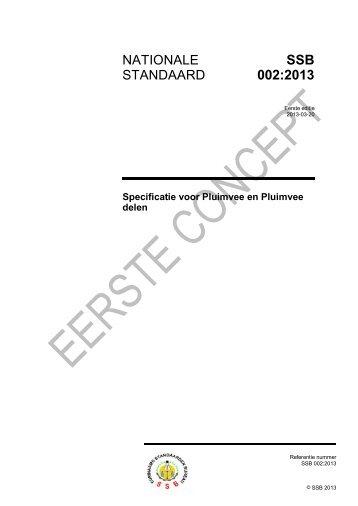Specificatie voor Pluimvee en Pluimveedelen - Surinaams Bureau ...