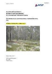 Geotekninsk undersökning - Hammarö kommun