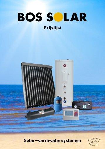 Prijslijst Solar-warmwatersystemen