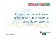 perspectives de croissance et politique nationale - Géothermie ...