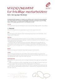 Actas verdidokument versjon 1