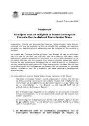 Persbericht 55 miljoen voor de veiligheid in Brussel vanwege de ...