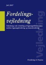 Fordelingsvejledning - Forsikring & Pension