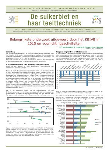 De suikerbiet en haar teelttechniek - Koninklijk Belgisch Instituut tot ...