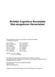 Richtlijn Cognitieve Revalidatie - SEN