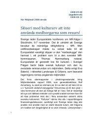 2008 Horn Remissyttrande ang Miljömålsutredningen - Landscape ...