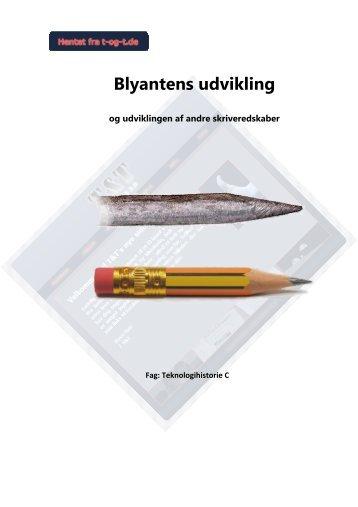 Blyantens udvikling