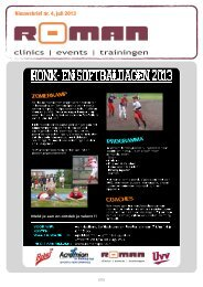 Nieuwsbrief nr. 4, juli 2013 - Roman Sports