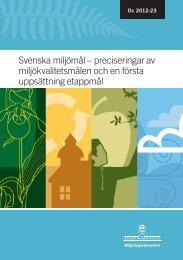 Svenska miljömål – preciseringar av ... - Regeringen