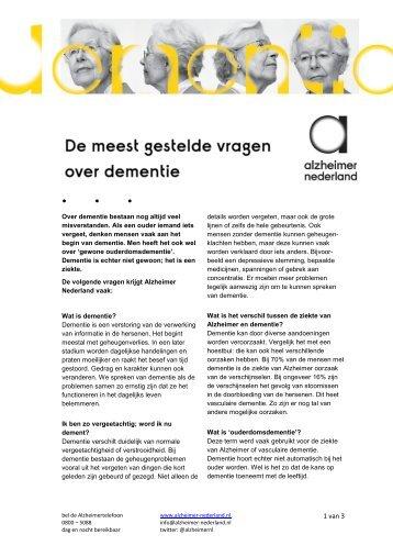 Meest gestelde vragen.pdf - Alzheimer Nederland